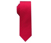 Krawatte Rot/beige Getupft
