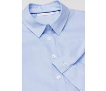 Halbarm Bluse Modern Classic Stretch Hellblau Unifarben