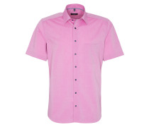 Kurzarm Hemd Modern FIT Chambray Pink Unifarben