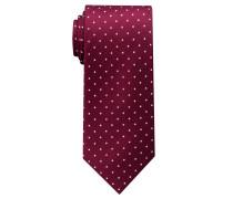 Krawatte Weinrot/beige Getupft