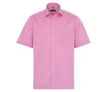 Kurzarm Hemd Comfort FIT Chambray Pink Unifarben