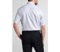 Kurzarm Hemd Comfort FIT Fantasiebindung Hellblau Strukturiert