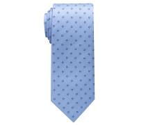 Krawatte Hellblau/marine Blau Gemustert