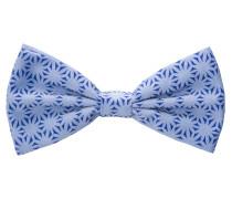 Fliege Hellblau/blau Gemustert