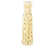 Langes Kleid mit Ähren-Print