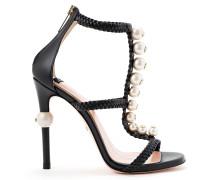 Sandale mit Perlen