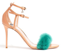 Sandalen mit Kunstpelz