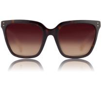 Slim D-Framed Sonnenbrille LFL 347 Amber T-Shell/Ash Snake/ Brown Gradient