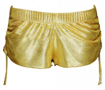 Short im Metallic-Look in gold