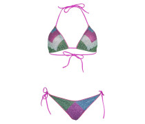 Lurex Padded Triangel Bikini Lila