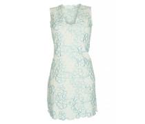 Kleid mit Blütenstickerei in Weiß