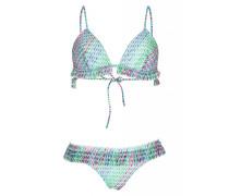 Triangel Bikini mit Rüschen in grün
