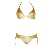 Bügel-Bikini im Metallic-Look gold