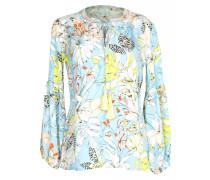 Florale Bluse hellblau