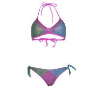 Lurex Sporty Padded Bikini Lila