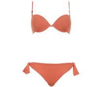 Push Up Bikini mit Bügel in leuchtendem Orange