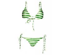 Green Stripe Padded Triangel Bikini