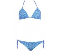 Triangle Bikini mit bestickter Spitze