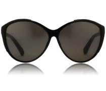Cat Eye Sonnenbrille LFL 332 Black/ Matt Black Snake/ Grey Lens