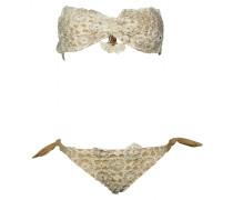Padded Bandeau Bikini mit abnehmbaren Trägern
