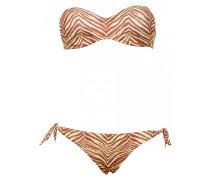 Padded Bandeau Bügel-Bikini mit Print