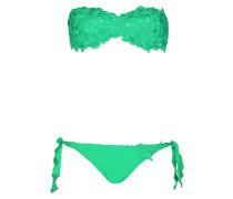 Padded Bandeau Bikini mit gehäckelter Spitze