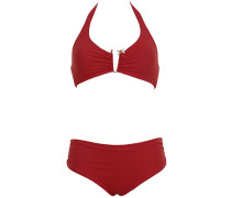 Triangle Bikini in Rot mit Libelle