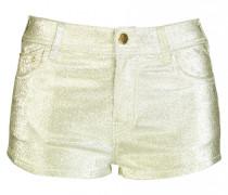 Denim Metallic Short in Gold