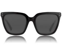Slim D-Framed Sonnenbrille LFL 347 Black/Grey Lens
