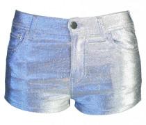 Denim Metallic Short in Hellblau