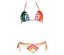 Padded Triangle Bikini Navajo in weiß