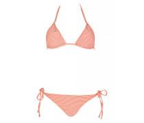 Padded Triangle Bikini mit Kettendetails