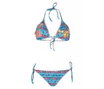 Padded Triangel Bikini mit Stickerei