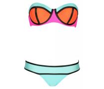 Neo Block Color Push Up Bandeau Bikini