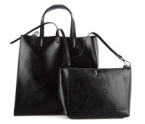Handtasche aus Kunstleder im Metallic-Look
