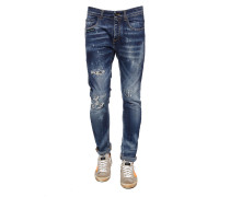 Jeanshosen im Used-Look
