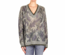 Oversize-Pullover mit Camouflage