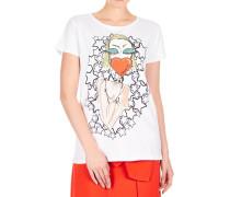 T-Shirt mit frontalem Aufdruck