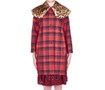 Mantel aus Nylon mit Tartan-Muster