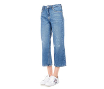 """Cropped Jeans """"Flare Wine"""""""