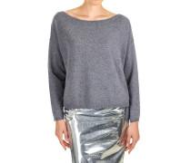 Sweater mit U-Boot-Ausschnitt aus Wollgemisch