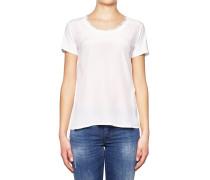 T-Shirt mit Spitzenborte