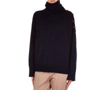 Kaschmir-Pullover mit Knopfdetail