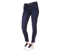 Jeans mit Knopf-Detail
