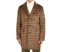 Vichy-Mantel aus Kunstfell