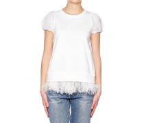 T-Shirt mit Federn