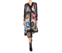 Bedrucktes Kleid in Wickeloptik