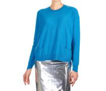 Lockerer Pullover aus Wollgemisch mit Taschen