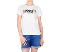 T-Shirt mit Logo und floralem Muster