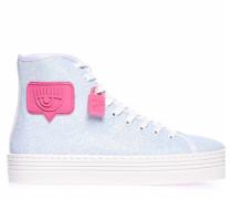 High Sneaker in Glitzer